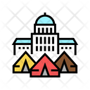 Government Building Refugee Building Government Icon