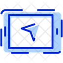 Gps Navigation Route Icon