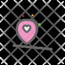 Gps Heart Love Icon