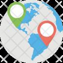 Gps Navigation Global Icon