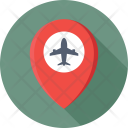 Map Pin Airport Icon