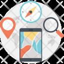 Gps Navigation Mobile Icon