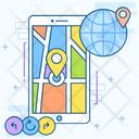 Gps Navigation Mobile Navigation Mobile Map Icon