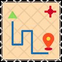Gps Route Icon