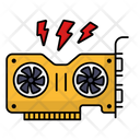 Graphic Processing Unit Video Card Icon