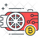 Gpu Mining Gpu Bitcoin Icon