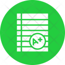 Grade Sheet Exam Icon