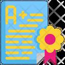 Certificate Grade Award Icon