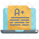 Grade Online Learning Icon