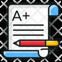 Exam Sheet Result Sheet Grade Sheet Icon