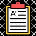 Grade Sheet Marks Sheet Paper Sheet Icon