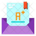 Mail Letter Grade Icon