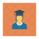 Graduate Girls Education Icon