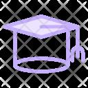Graduate Cap Mortarboard Icon