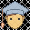 Graduate Student Male Icon