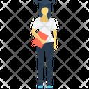 Graduate Student Female Graduate Icon