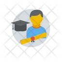 Graduate Student Bachelor Icon