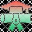 Graduate Mortarboard Graduation Hat Icon