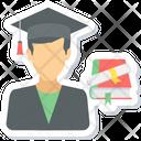 Graduate Boy Student Icon