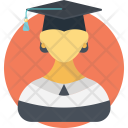 Graduate girl Icon