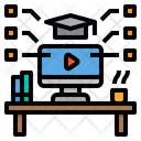 Elearning Knowledge Computer Icon