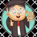 Graduate Old Lady Icon