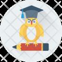 Owl Graduate Pencil Icon