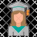 Graduate Woman Girl Icon