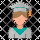 Graduate Man Boy Icon