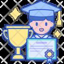 Study Success Trophy Achivement Icon