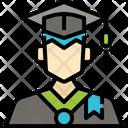 Man Student User Avatar Profile Graduation Icon