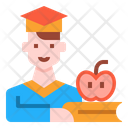 Bachelor Student Graduation Icon