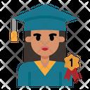 Graduated Student Graduated Female Icon
