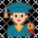 Graduated Student Graduated Male Icon
