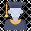 Graduated Student Man Profession Icon
