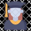 Graduated Woman Man Profession Icon