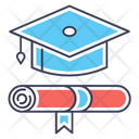 Degree Graduate Diploma Icon