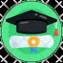 Diploma Degree Graduation Icon