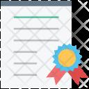 Graduation Degree Certificate Icon