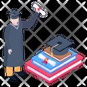 Pupil Scholar Graduation Icon