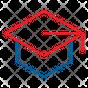 Graduate Graduation Cap Education Icon
