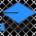 Graduation Cap Academic Icon