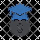 Graduation Hat Dollar Icon