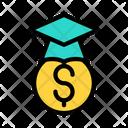 Graduation Fees Education Fees University Fees Icon