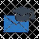 Graduation Mail Icon