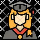 Woman Student User Avatar Profile Graduation Icon