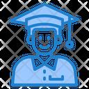 Graduation Degree Man Icon