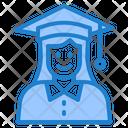 Graduation Degree Woman Icon
