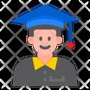 Graduation Student Male Student Graduation Icon