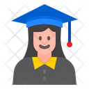 Graduation Student Female Student Graduation Icon